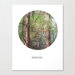 breathe. Canvas Print