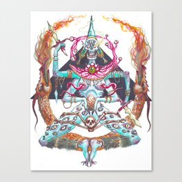 Demon Priest Canvas Print
