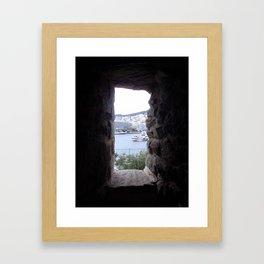 from inside Framed Art Print