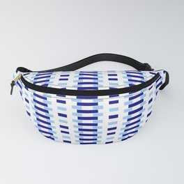 optical pattern 34 blue Fanny Pack