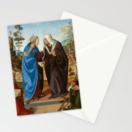 Piero di Cosimo Mary and St. Elisabeth, St. Nicholas and St. Anthony Stationery Cards
