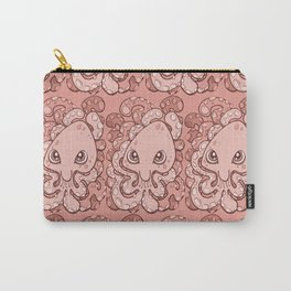 Happy Octopus Squid Kraken Cthulhu Sea Creature - Blooming Dahlia Pink Carry-All Pouch