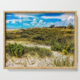 Florida Beach Greens Serving Tray