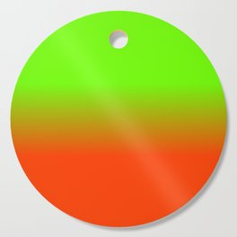 Neon Green and Neon Orange Ombré  Shade Color Fade Cutting Board