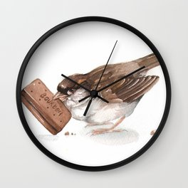 My sneaky little sparrow Wall Clock