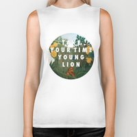 vampire weekend Biker Tanks featuring Weekend of the Lion by Modern Vampires of Art History
