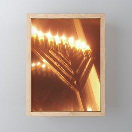 Chanukah Menorah  Framed Mini Art Print