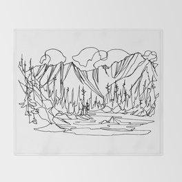 Ice Creek Lake, Valhallas :: Single Line Throw Blanket