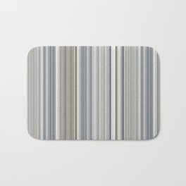 Blue grey Tan Stripes Bath Mat