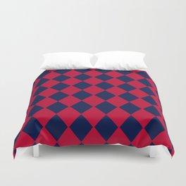 Red blue geometric pattern Duvet Cover