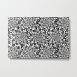 Star Vortex - Color: Black&White Metal Print