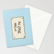 U Can Trust Me Stationery Cards