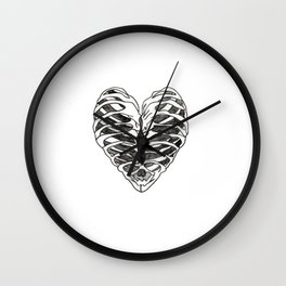 Bone Heart Wall Clock
