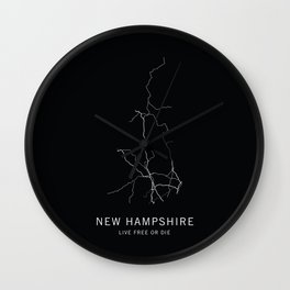 New Hampshire State Road Map Wall Clock