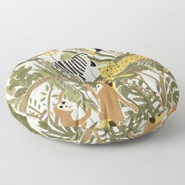 Th Jungle Life Floor Pillow