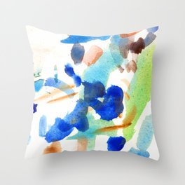 MAINLY BLUE Throw Pillow