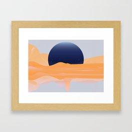 FULL -OF-FLOYD MOON / ORANGE Framed Art Print