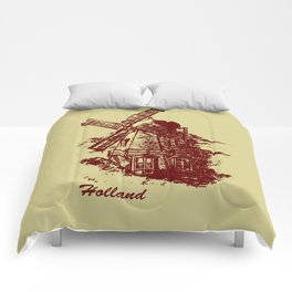 Old Holland windmill Comforters