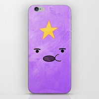 lumpy space princess iPhone & iPod Skins featuring Adventure Time - Lumpy Space Princess by hannahclairehughes