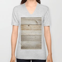Rustic Barn Board Wood Plank Texture Unisex V-Neck
