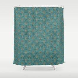 Oriental Fan Pattern Shower Curtain