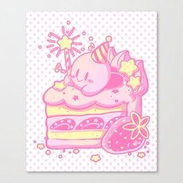 Kirby Cake Canvas Print