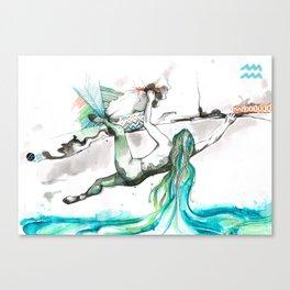 Acending Aquarius Canvas Print