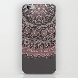 Mandala Spirit, Rose Pink, Gray iPhone Skin