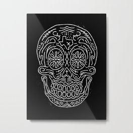 Texas Sugar Skull Metal Print
