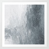 silver Art Prints featuring Silver by Patterns and Textures