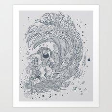 I only surf on Comets Art Print