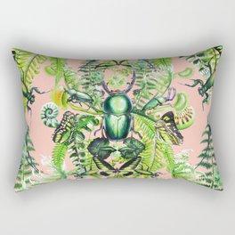 Malachite pattern on coral Rectangular Pillow