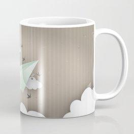 Green Paper Plane Coffee Mug