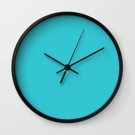 Solid Color ROBINS EGG BLUE Wall Clock