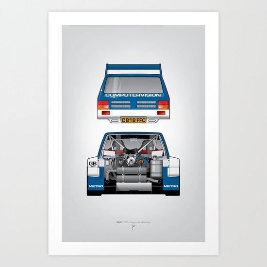 Outline Series N.º7, MG Metro 6R4, 1986 Art Print