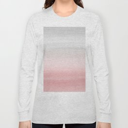 Touching Blush Gray Watercolor Abstract #1 #painting #decor #art #society6 Long Sleeve T-shirt