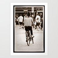 yowamushi pedal Art Prints featuring Pedal power by adman_1979