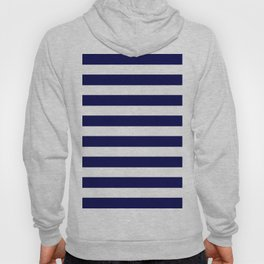 Navy Blue & White Stripes- Mix & Match with Simplicity of Life Hoody