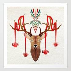 deer rope  Art Print