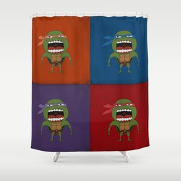 Screaming Turtles Shower Curtain