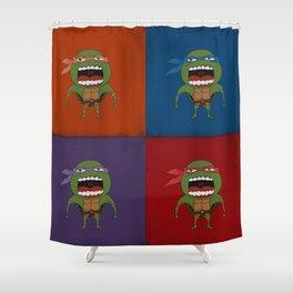 Screaming Turtles Shower Curtain