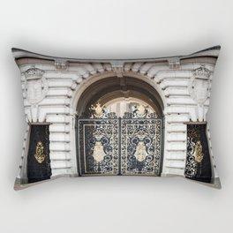 Black and Gold Rectangular Pillow