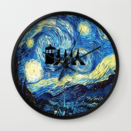 The Doctors Walking Of Starry Night Wall Clock