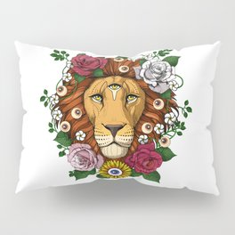 Psychedelic Trippy Lion Pillow Sham