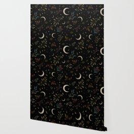 Crescent Moon Garden Wallpaper