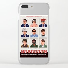 Rushmore alternate movie poster Clear iPhone Case
