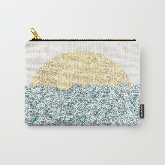 Sunny Tribal Seas Carry-All Pouch