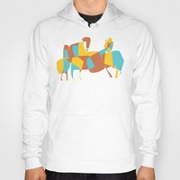 horses Hoodies featuring Horses by Pablo Correa