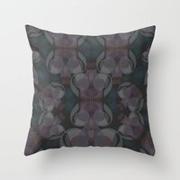 sound Throw Pillows featuring Sound by La Señora