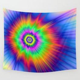 Tie Dye Fireball Wall Tapestry